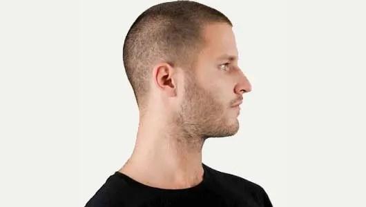 Naturally stubble hair and beard