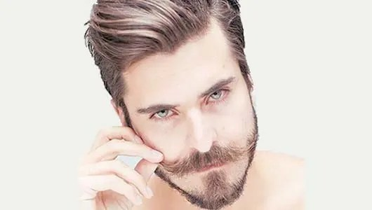 Light Beard with Mustache and Side Burns