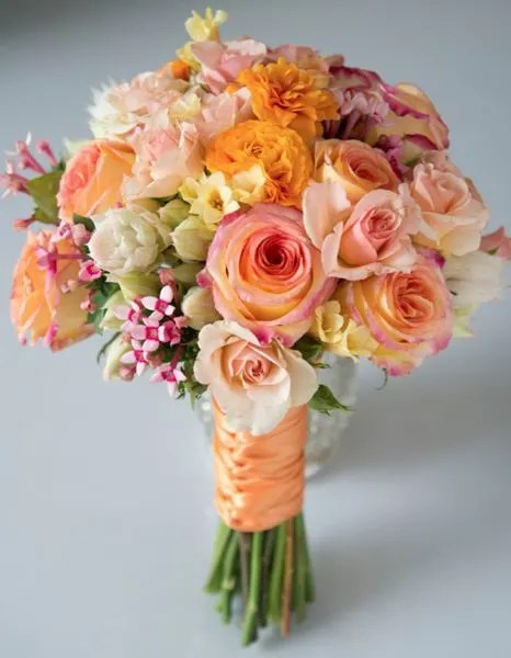 The Peach Sorbet Bouquet By Muguet Florist