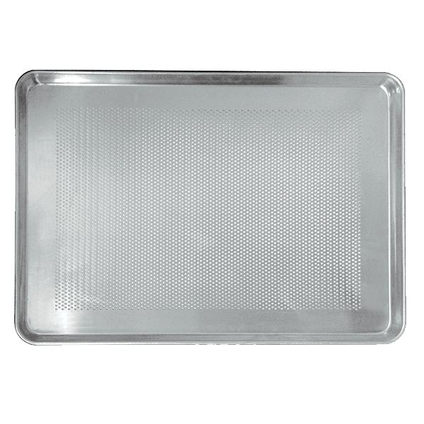 Tray base without perforations