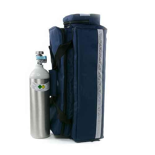Oxygen System with Light Steel Bottle and Pressure Regulator