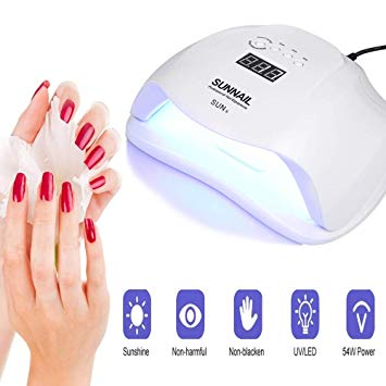 54W UV LED Nail Lamp Professional Sunlight Nail Gail Dryer Machine Fingernails Toenails Curing Equipment Nail Art Tool EU Plug