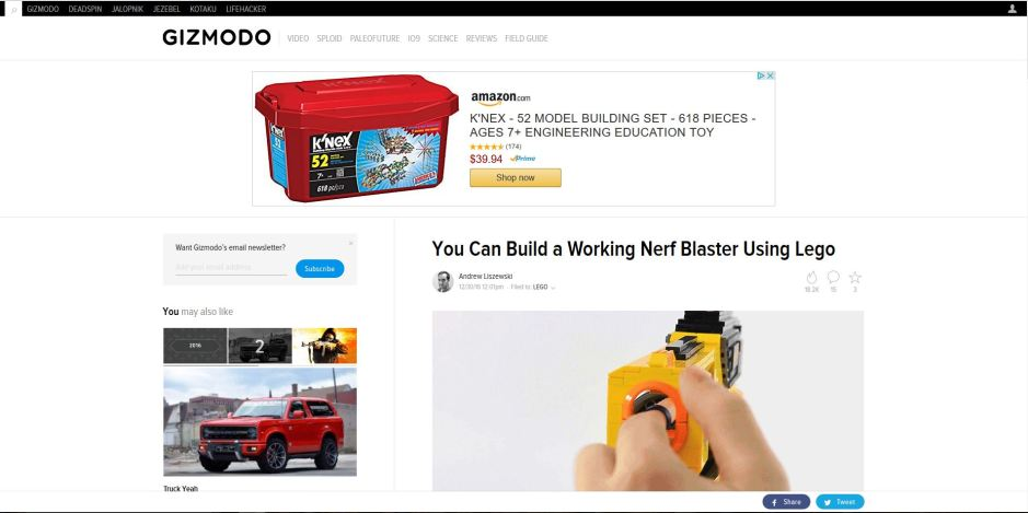 You Can Build a Working Nerf Blaster Using Lego