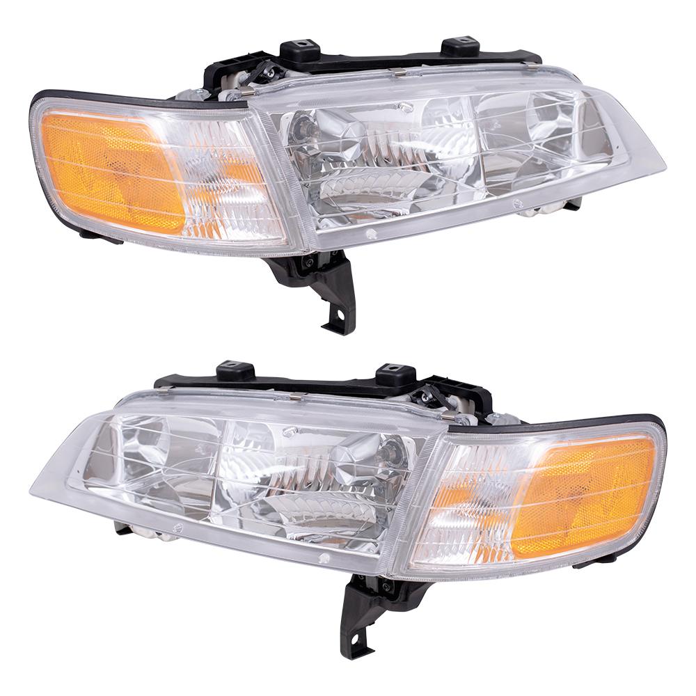 94 97 Honda Accord Gunmetal Headlights