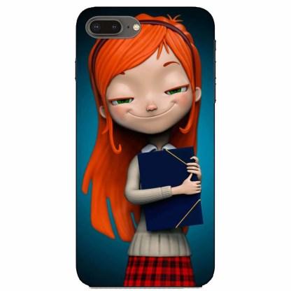 Cute Nerd Girl iPhone 8 Plus Back Cover