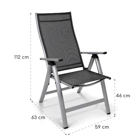 london chaise de jardin aluminium