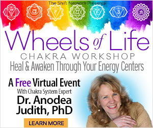 The Wheels of Life Chakra workshop: FREE with Anodea Judith from the ShiftNetwork 1 The Wheels of Life Chakra workshop: FREE with Anodea Judith from the ShiftNetwork