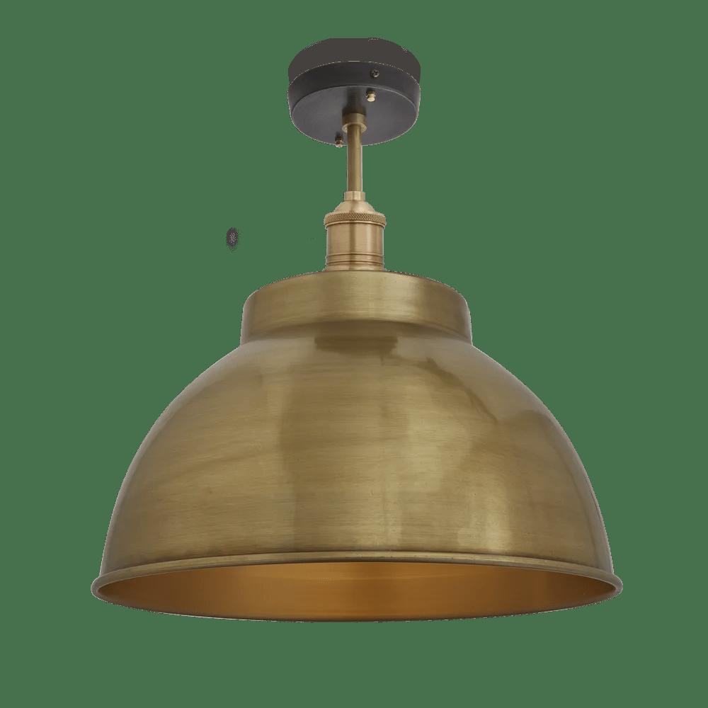 brooklyn dome flush mount light 13 inch industville