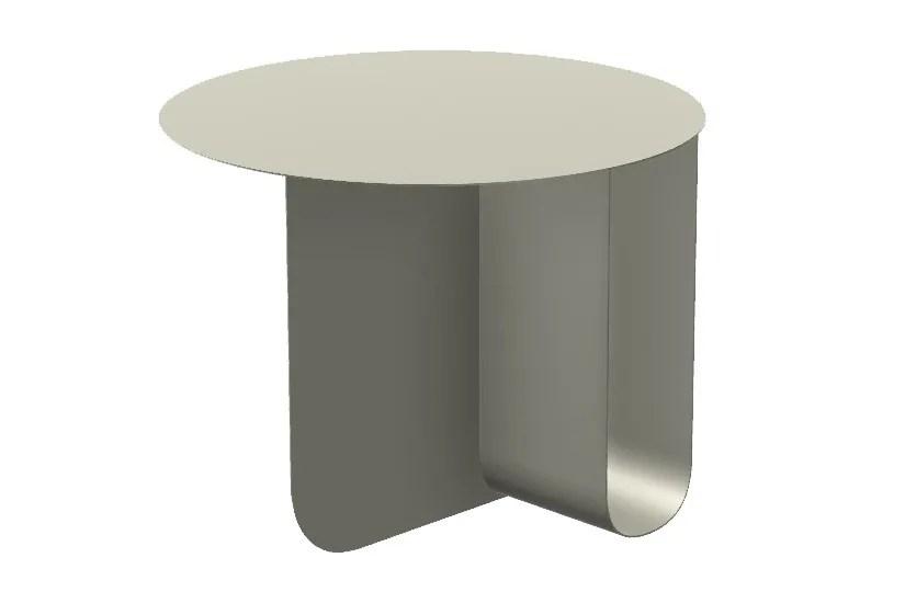 u round aluminium coffee table by la cividina