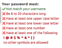 password rule