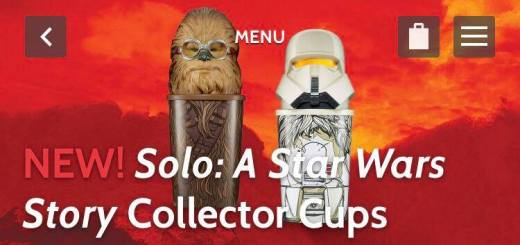 New Solo character cups from Dennys