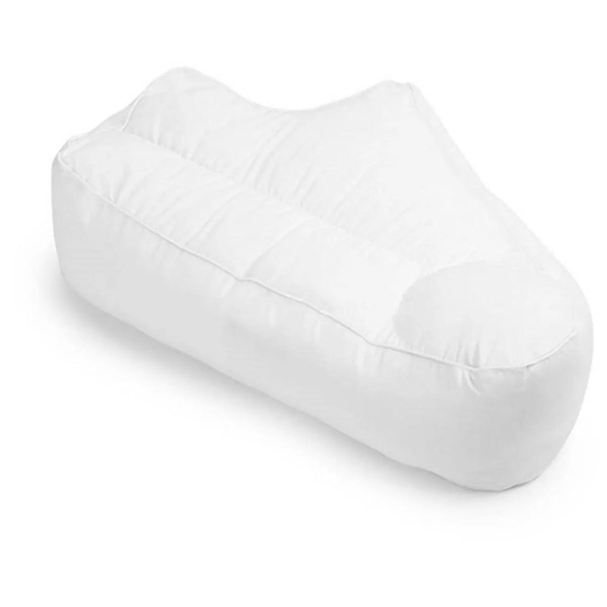 side sleeper arm rest posture pillow white