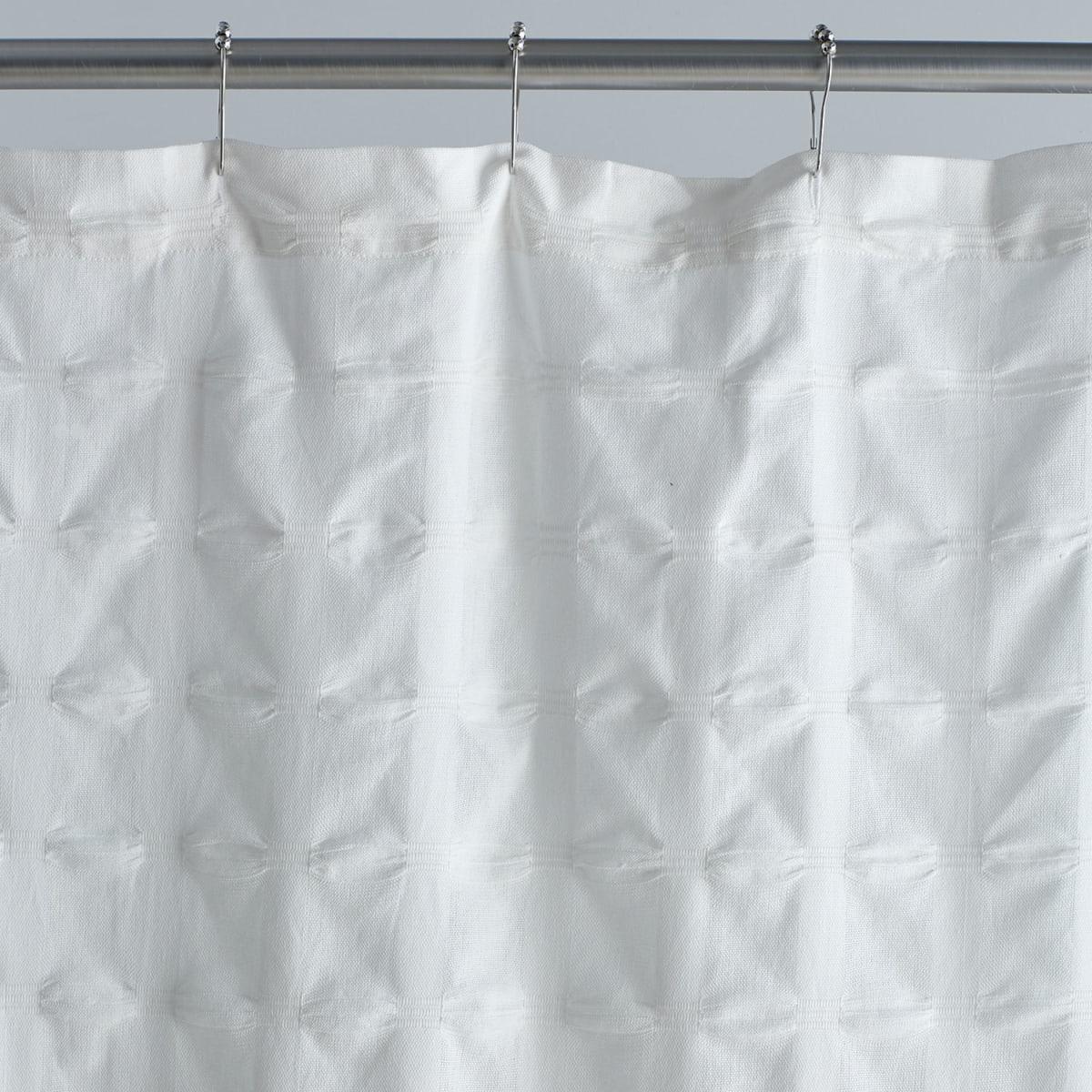 company cotton organic cotton shower curtain white