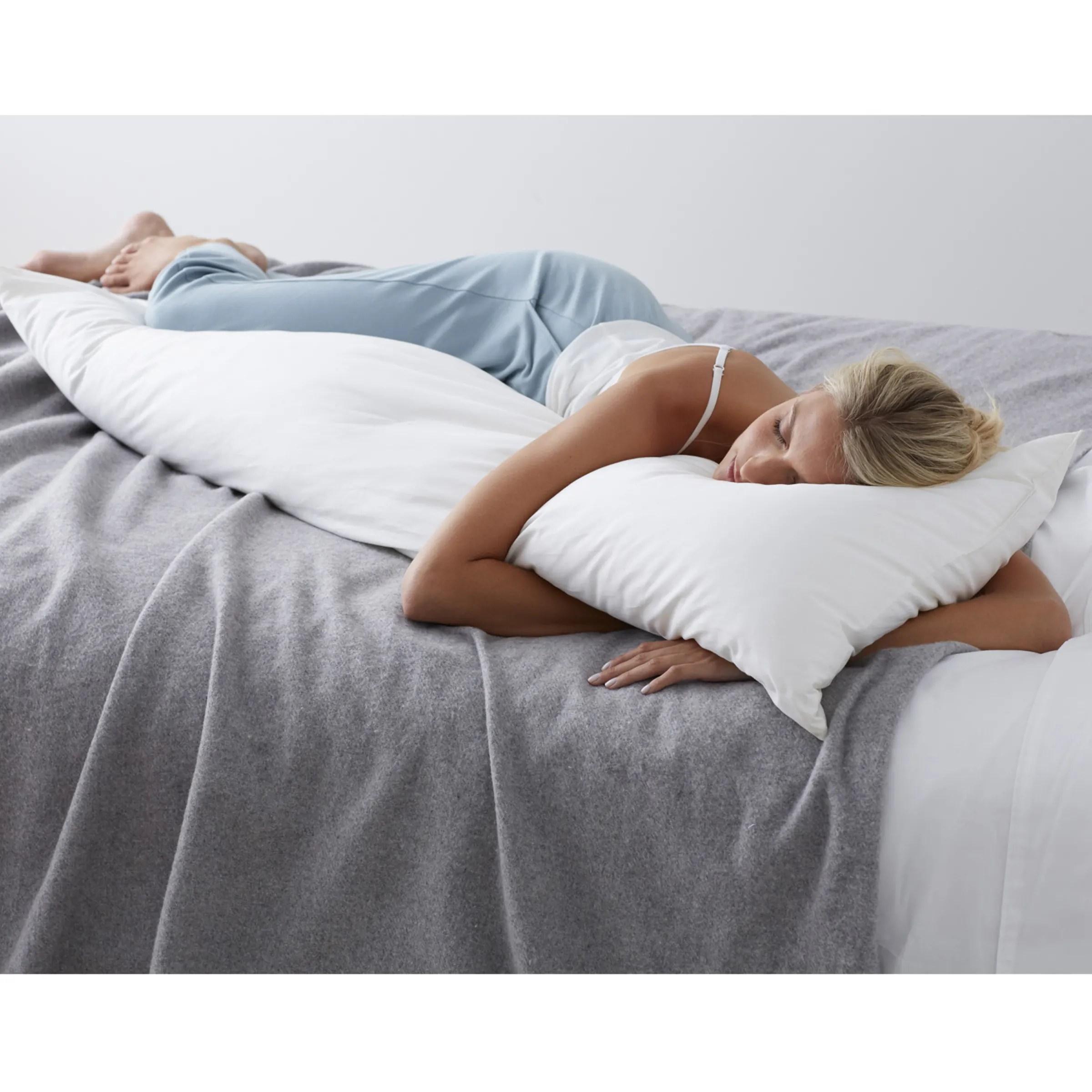 company essentials down free medium density body pillow insert