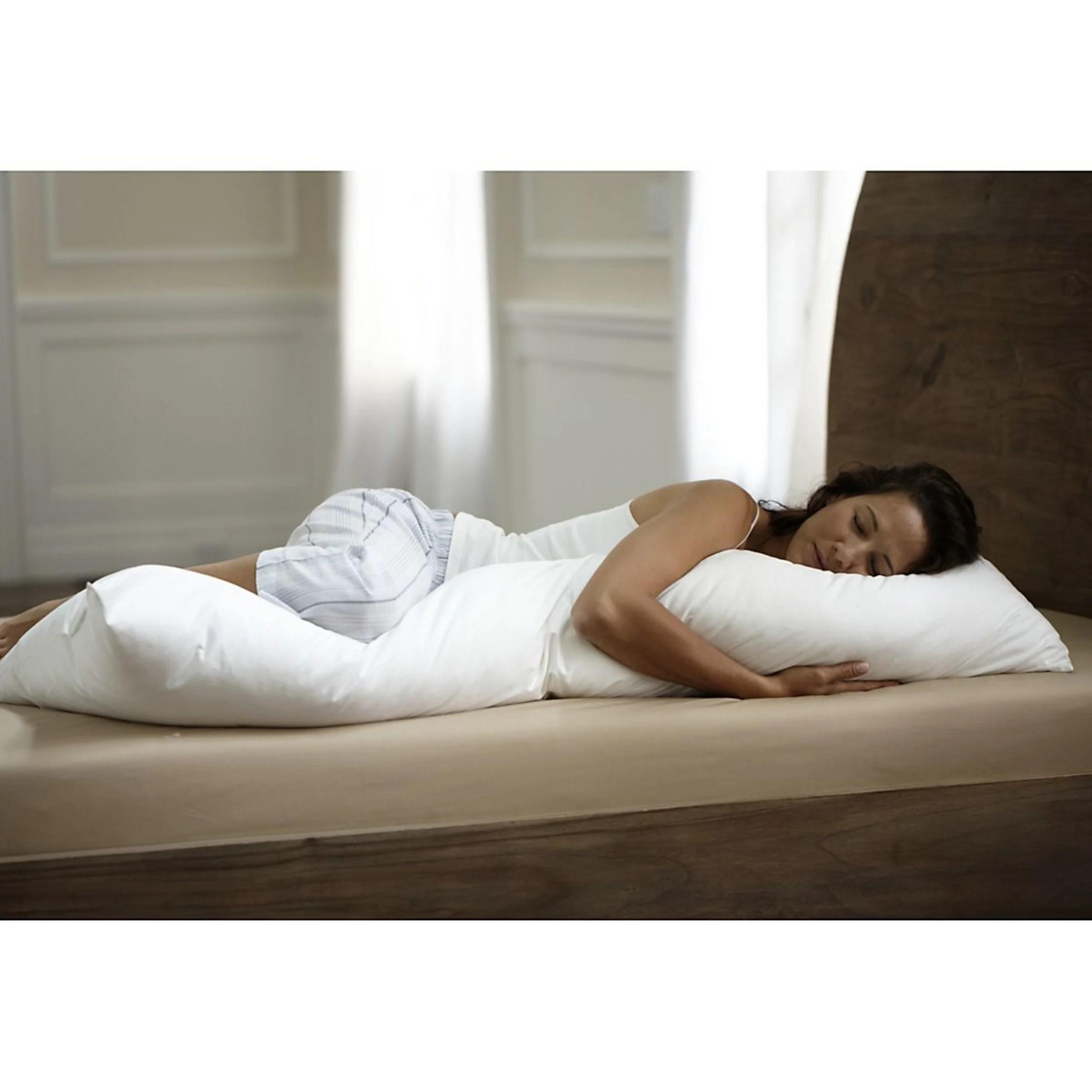 cotton percale body pillow protective cover