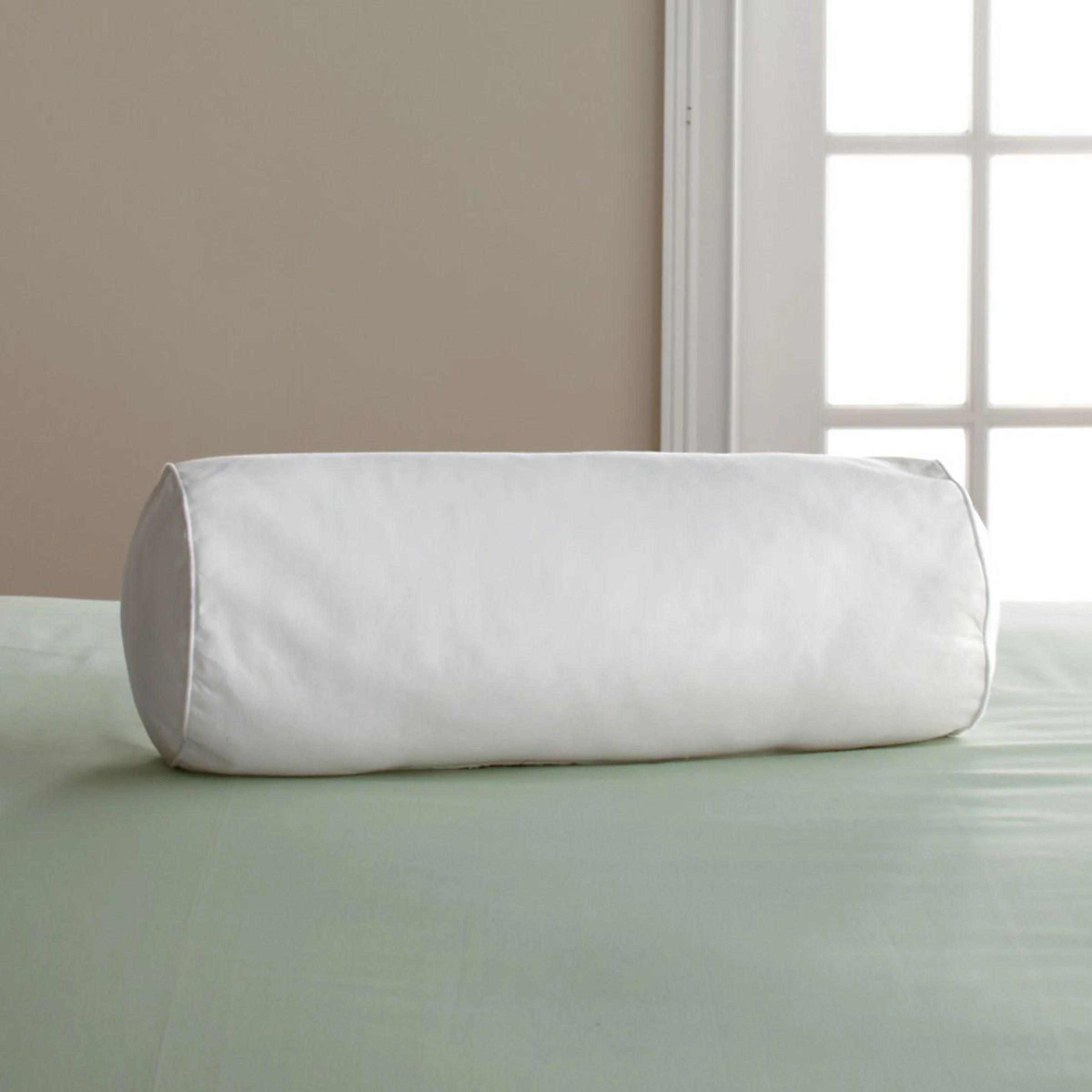 company down free medium density neckroll pillow insert white