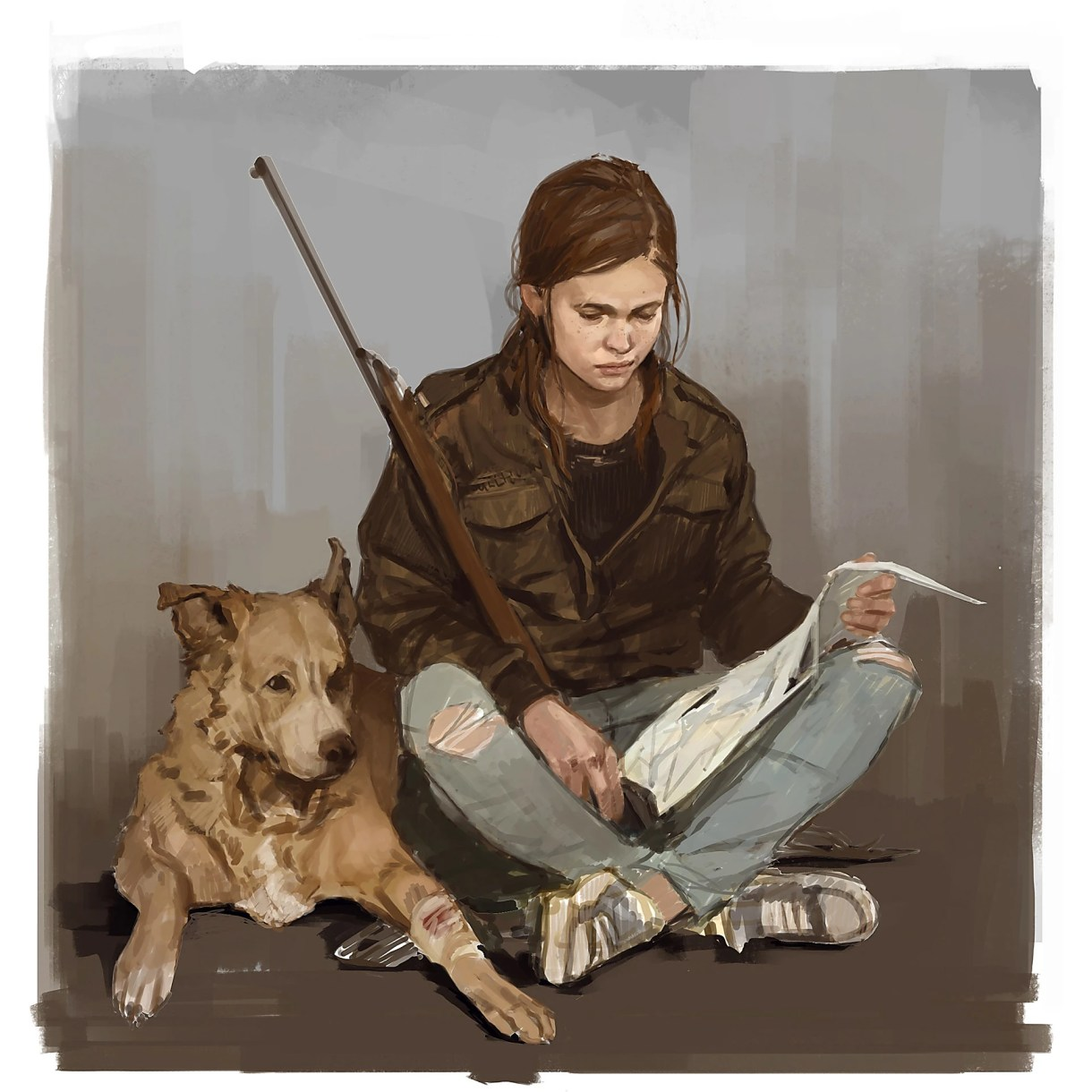 Ellie and Dog