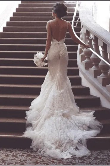 mermaid gown-Collections of Wedding Gown and their Prices in Nigeria (2020)