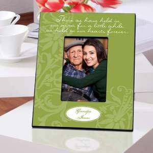 Personalized-Green -n-Our-Hearts-Memorial-Picture-Frame