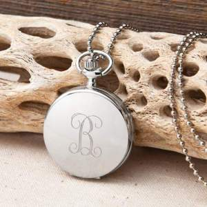 Personalized Clock Pendant Necklace