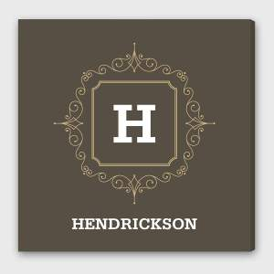 Personalized Initial Motif Canvas Print