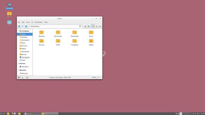 Korora Cinnamon  file manager
