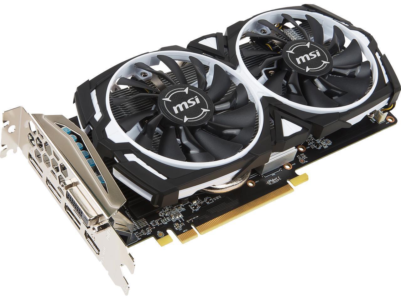 MSI Radeon RX 570 ARMOR OC Edition 8GB GDDR5 Video Card