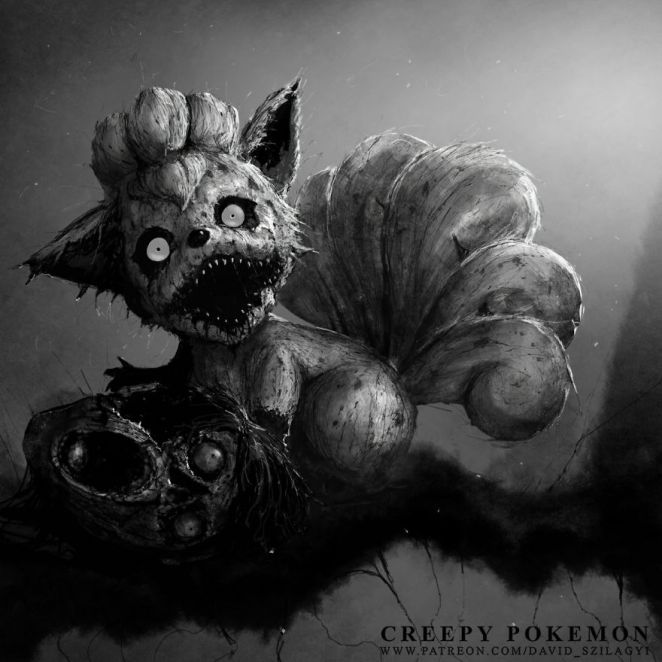 be very afraid pokemon re imagined as monsters from your scariest  david szilagyi david szilagyi