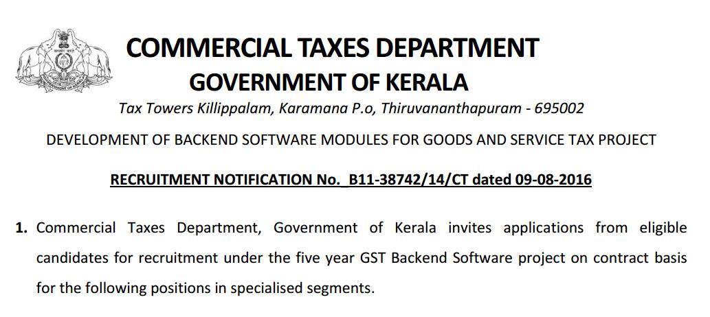 Kerala Government Programmer,Administrator,CSE/IT Engineers