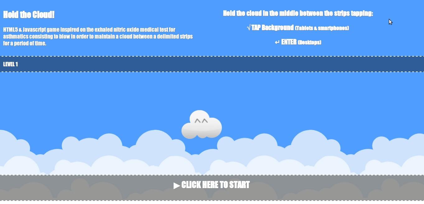 Screenshot del juego tal cual se presentó a la competición JS13KGames.com