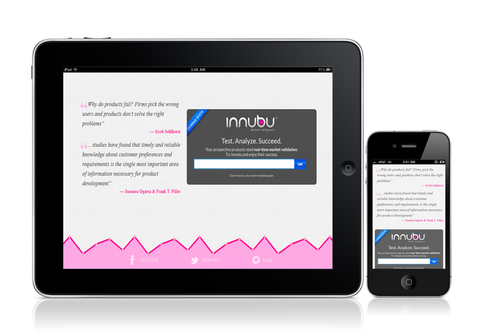 Innubu - Landing Tablet/Mobile