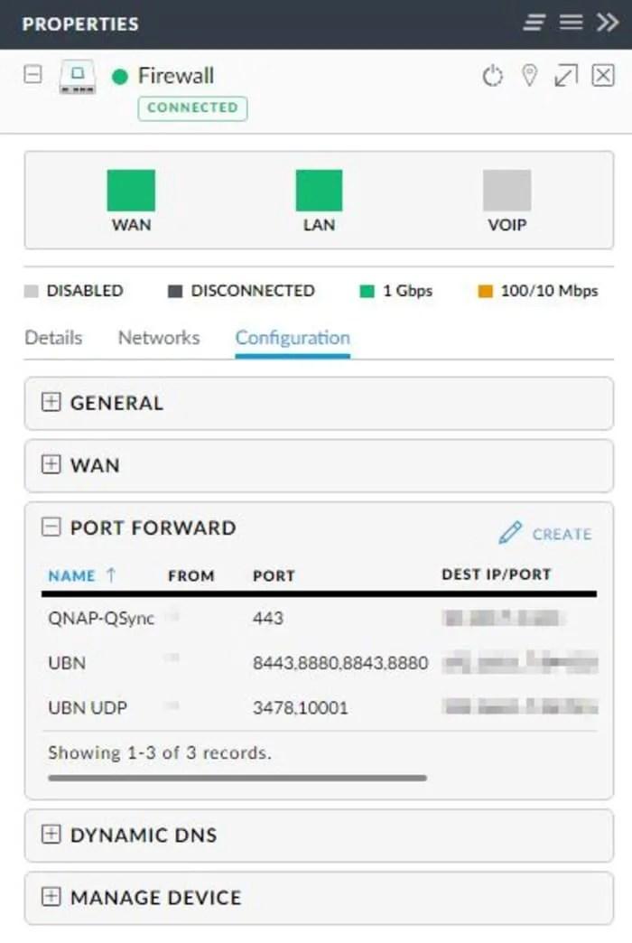 Unifi Firewall USG