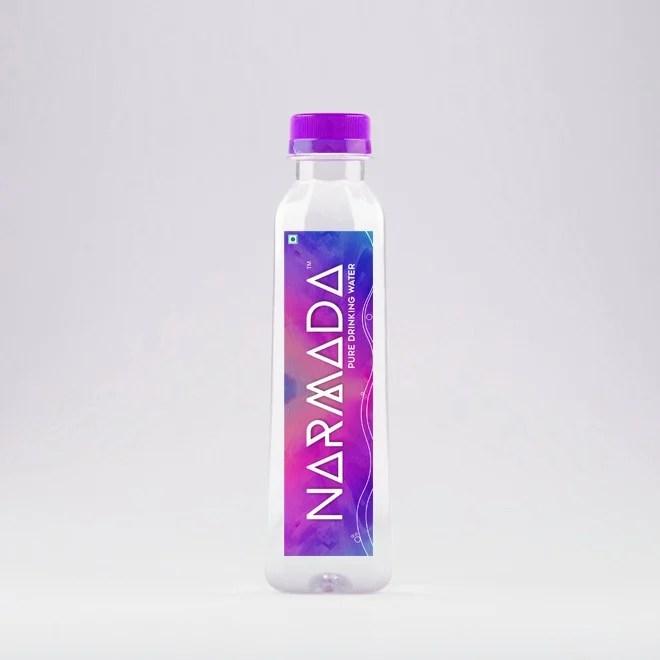 Water Bottle Designs packaging and labels Gradient Look