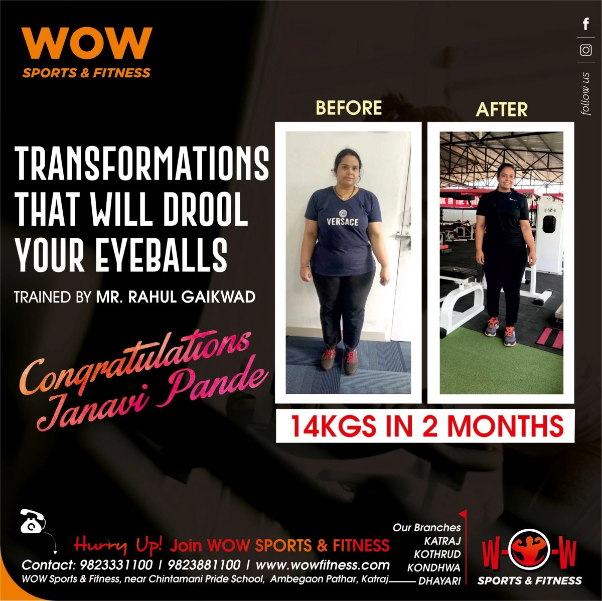 Transformation Details for WOW Fitness