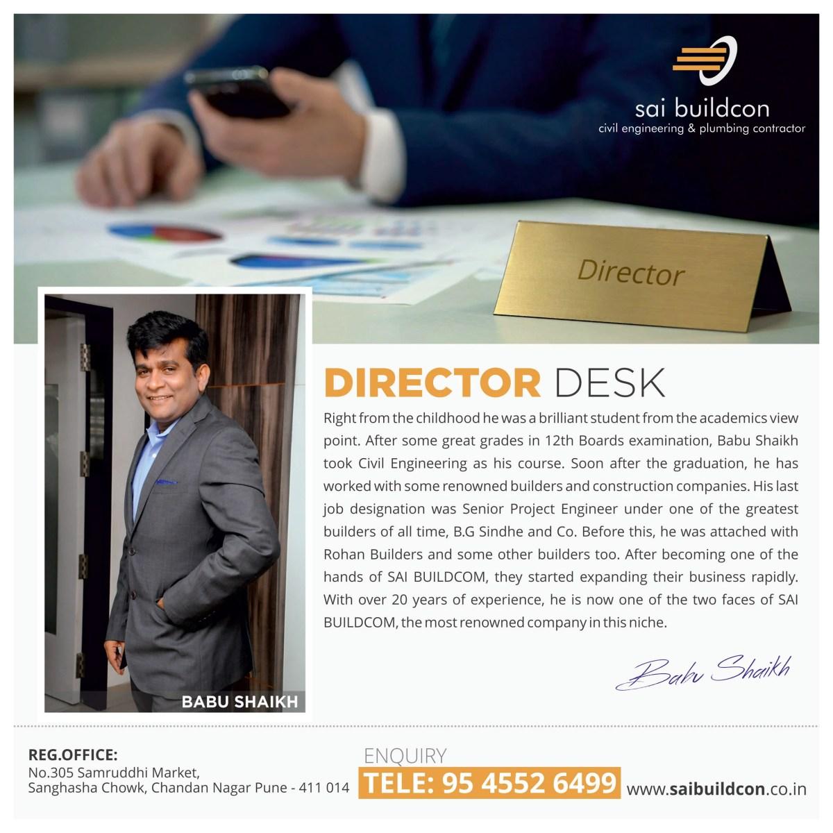 23 July 2018 Sai Buildcon Director Babu Shaikh