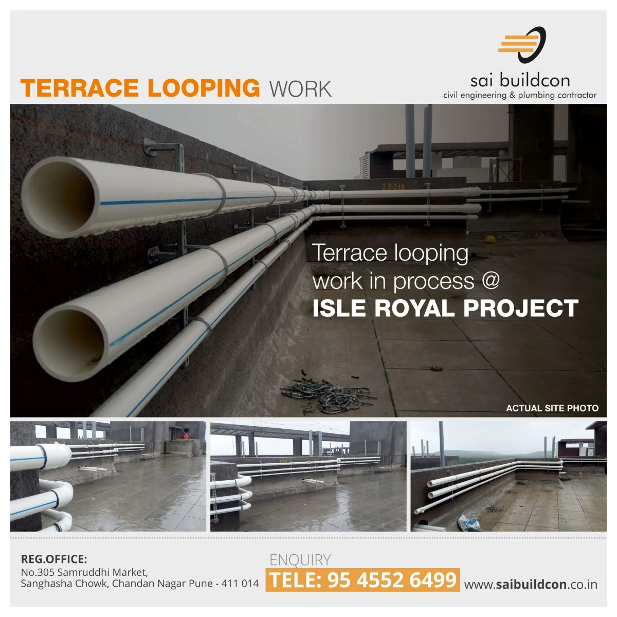 A quick look to our terrace looping work in process @isleroyalproject by #saibuildcon
