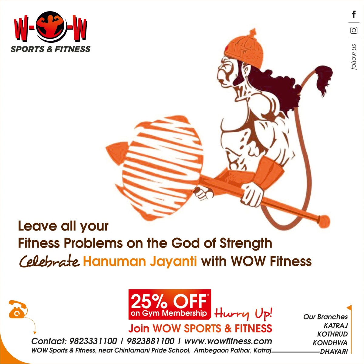 Hanuman Jayanti Gym Creative