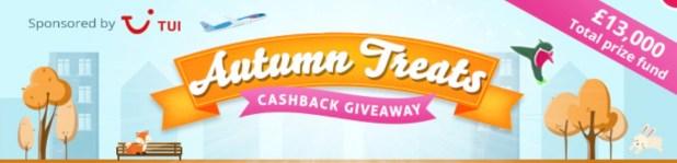 TopCashback Autumn Treats Cashback Giveawa