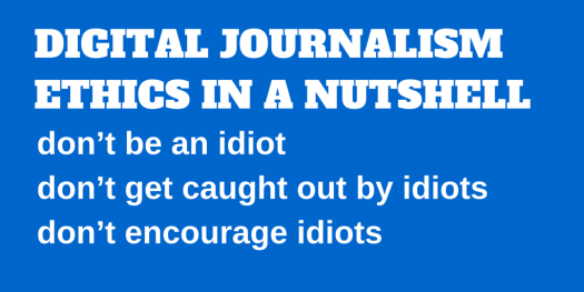 DIGITAL JOURNALISM ETHICS IN A NUTSHELL (1)