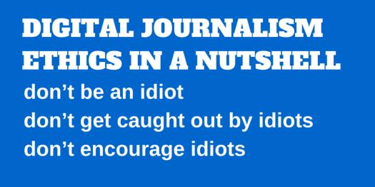 DIGITAL JOURNALISM ETHICS IN A NUTSHELL (1)