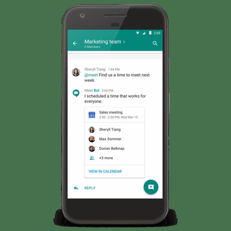 Hangouts Chat @meet Bot