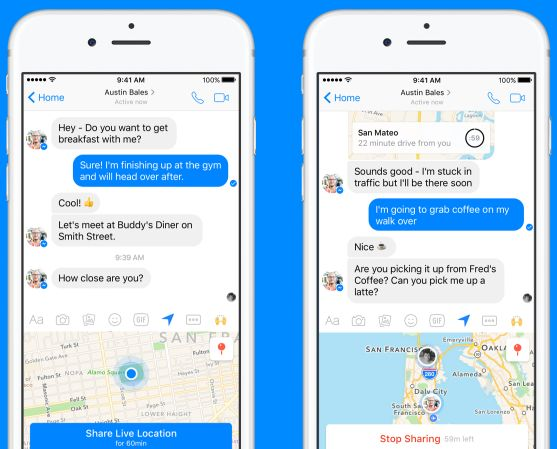 Share Live Location in Messenger on iOS and Android