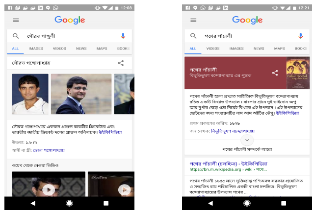 Google Knowledge Graph in Bengali