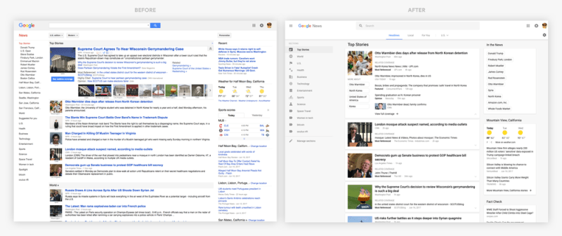 New Google News UI