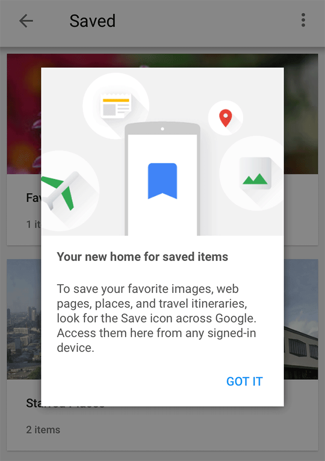 Google Mobile Save Section