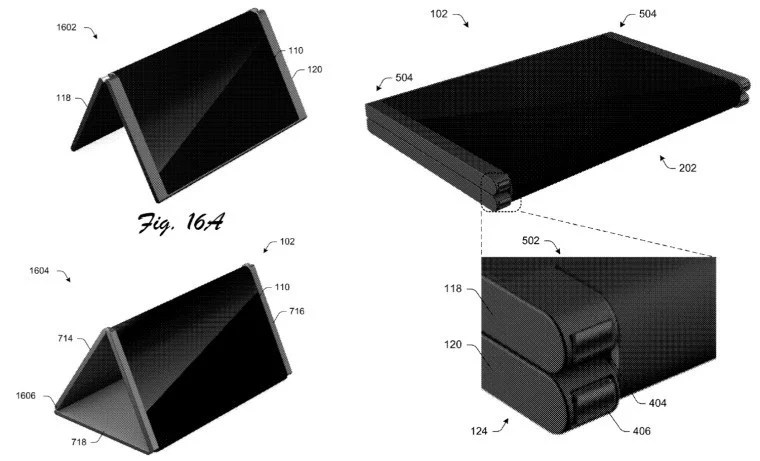 microsoft patent mobile computing device having a flexible hinge structure