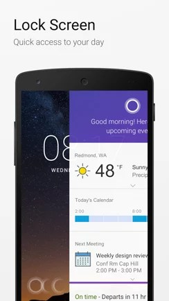 Cortana on Android Lockscreen