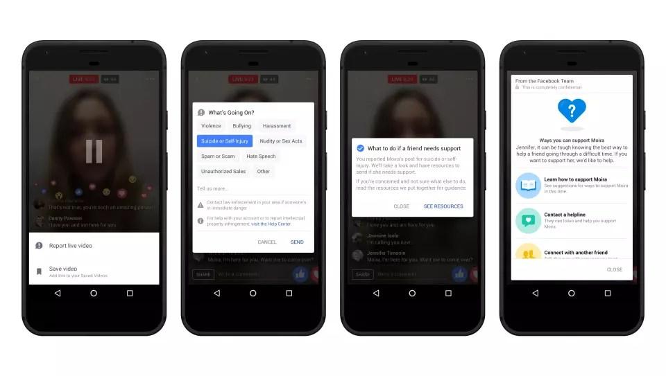 Facebook Live Messenger for suicide prevention