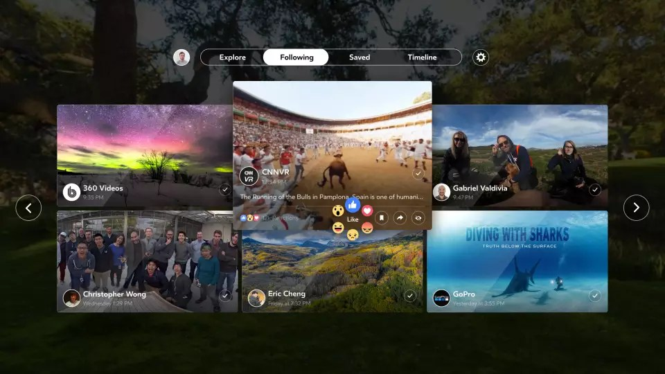 Facebook 360 app: Experience videos, photos from Pages, friends in Following feed