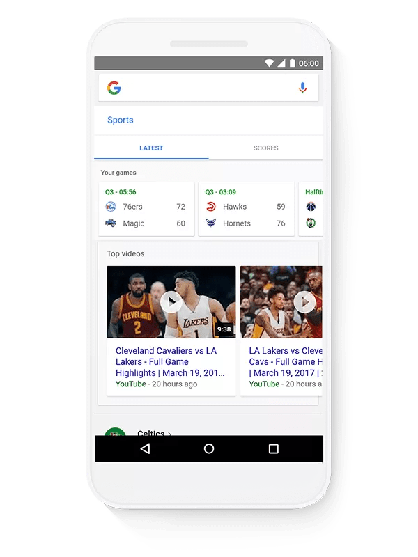 Google Search Shortcuts on Android, iOS and mobile web